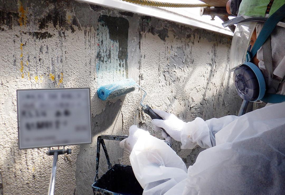 株式会社 大和産業開発/株式会社 大和産業の施工実績   外壁塗材除去(剥離剤併用手工具ケレン工法)